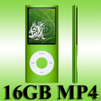 "16GB 1.8"" Slim MP3 MP4 Media Player 4th Gen"