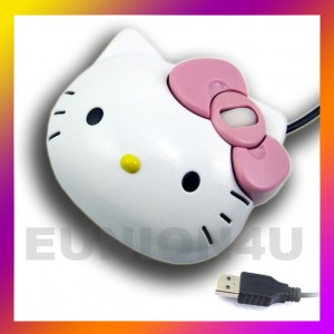 Cute Hello kitty USB 3D Optical Mouse for PC/Laptop