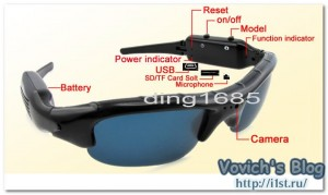 sunglasses spy video camera