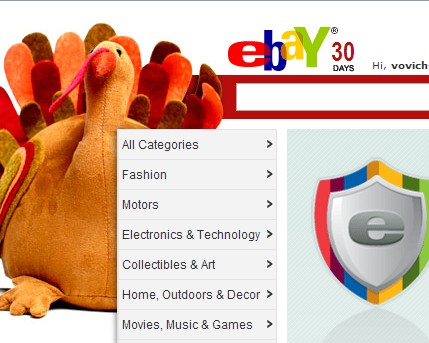 ebay 30 days before christmas