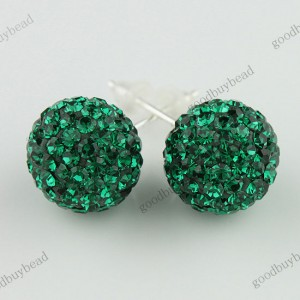 AUTHENTIC DEEP GREEN CZECH CRYSTAL DISCO BALL