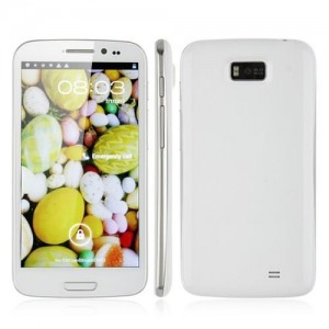 8GB Hero 9300+ MTK6577 Smart Phone 5.3 Inch IPS Screen Android 4.1 3G GPS WiFi White